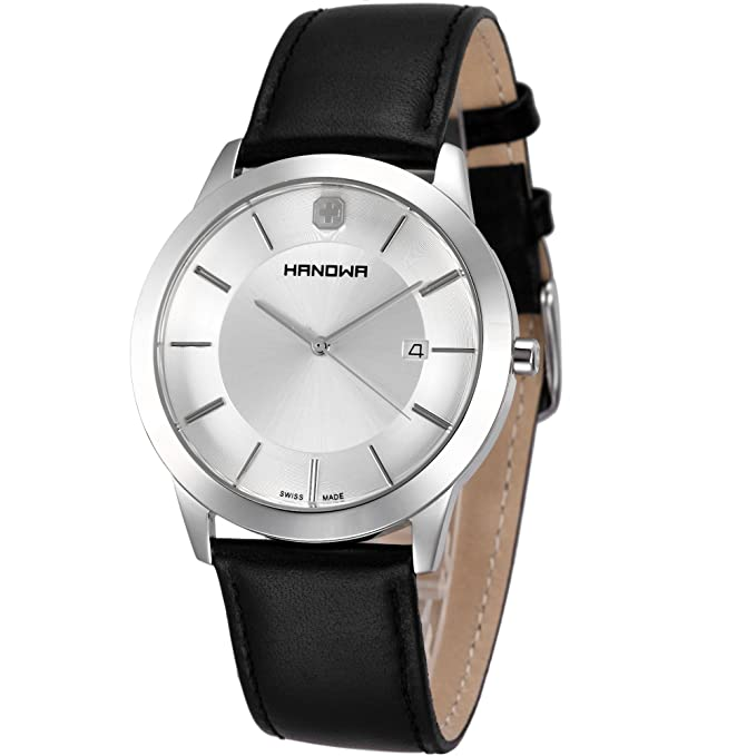 Amazon.com: Hanowa ELEMENTS 16-4042.04.001 Mens Wristwatch Classic & Simple: Watches