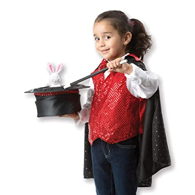 Melissa & Doug Magician Role Play Costume Set - Includes Hat, Cape, Wand, Magic Tricks: Melissa & Doug: Toys & Games