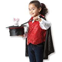 Melissa & Doug 8508 Magician Role Play Costume Set - Includes Hat, Cape, Wand, Magic Tricks