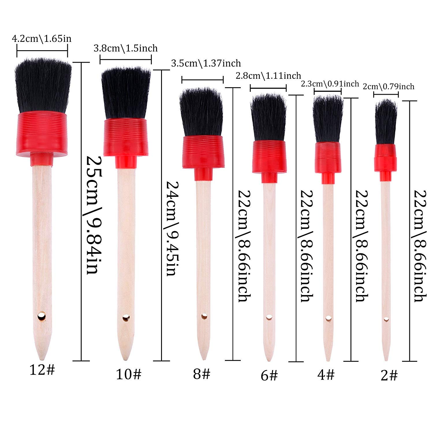 Fancartuk Car Cleaner Brush Set Leather 13Pcs Interior 13 Pieces Detail Brushes Cleaning Brushes Soft Hair Bristles Brush Auto Detailing Brush Set For Cleaning Weels Exterior