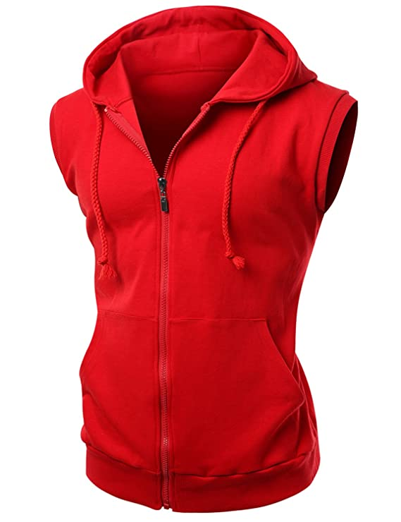 Amazon.com: Xpril men's cotton Zip up hoodie Vest: Clothing