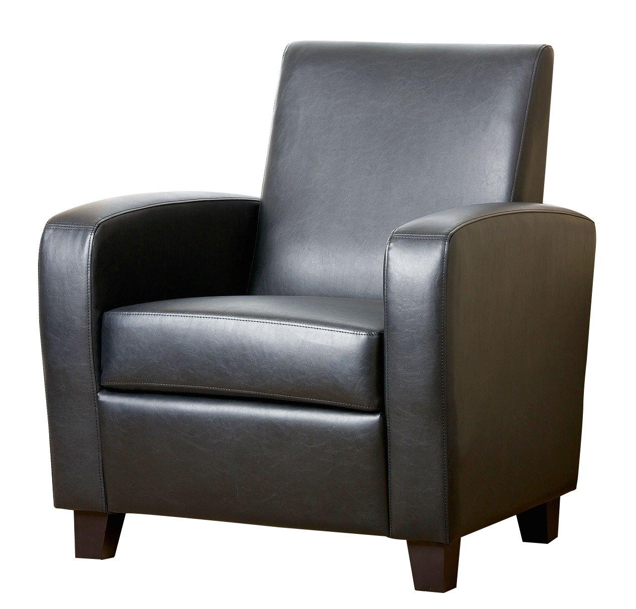 Beau Amazon.com: Abbyson® Mercer Bonded Leather Club Chair, Black: Kitchen U0026  Dining