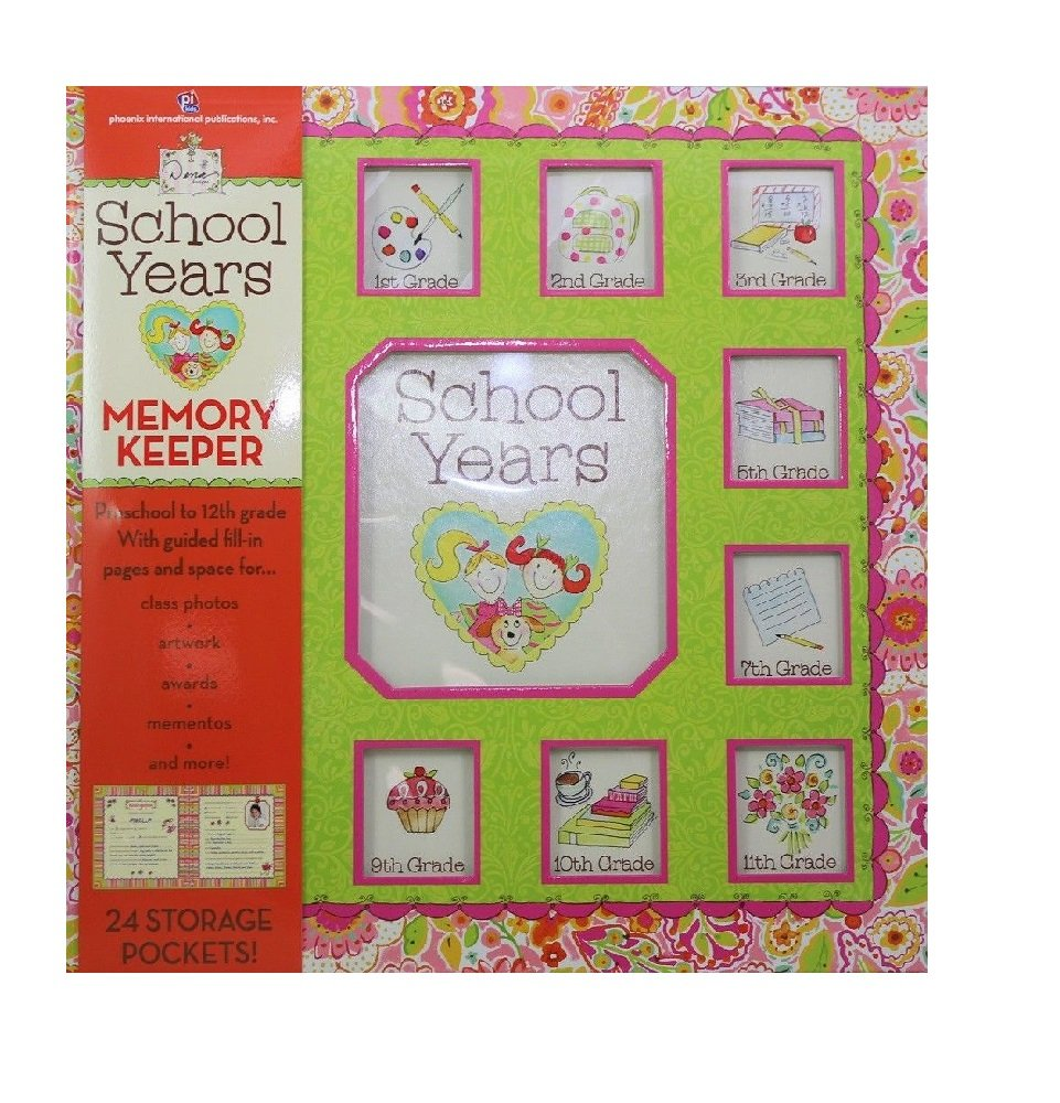 School Years Book Girl Album Bus Pink Dena Designs Publications International