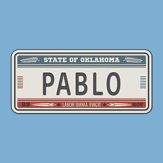 Megadecor Placa de Matrícula Decorativa de Aluminio o PVC Impreso de Estilo Vintage Americano Personalizado con Nombre 100% Personalizable 8 Modelos (Oklahoma, PVC 5 mm): Amazon.es: Hogar