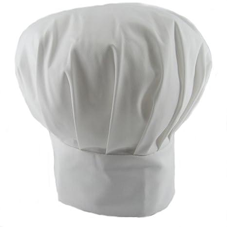 Toogoo - Gorro ajustable de polialgodón para chef 1e5d4efe115