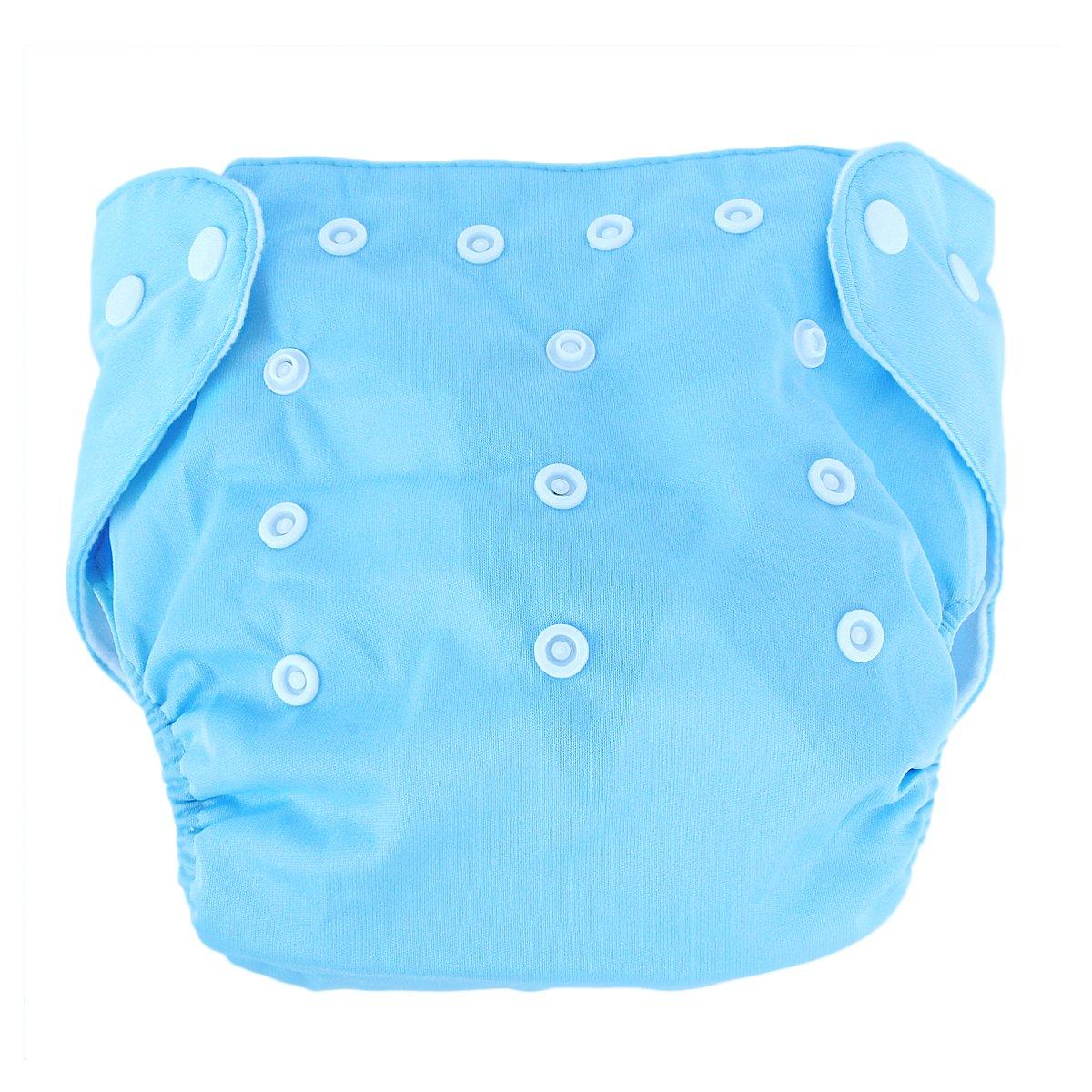 5 St/ück Wiederverwendbare Waschbare Verstellbar Babywindeln Baby Windelhose Baby-Tuch-Windel Weicher Stoff Gr/ö/ße Verstellbar Blau