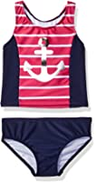 Nautica Girls' Wave Stripe Tankini Set