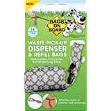 Bags on Board Patterned Soft Dog Waste Pickup Bag  Leash Dispenser, With 14 Waste Bags