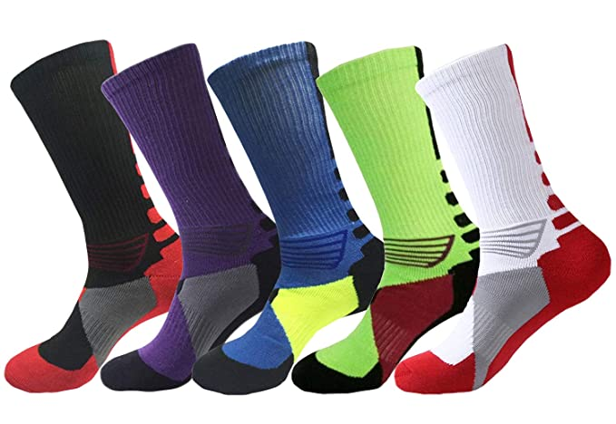 official photos 69cb1 fa59e Elite Basketball Socks Cushioned Dri-Fit Athletic Crew Socks for Boys Girls  Men Women Pack