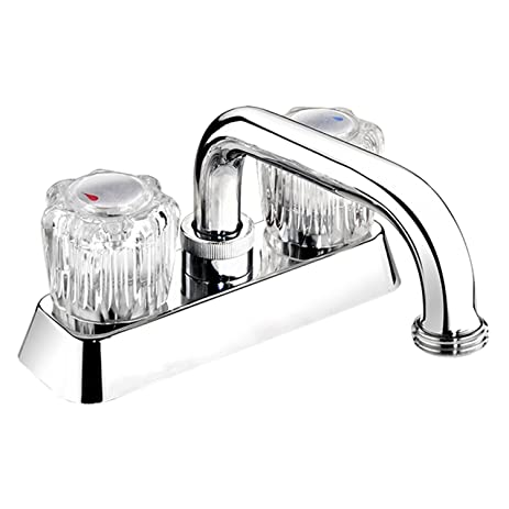 Belanger EBA40WCP Laundry Tub Faucet with 2 Round Acrylic Handles ...