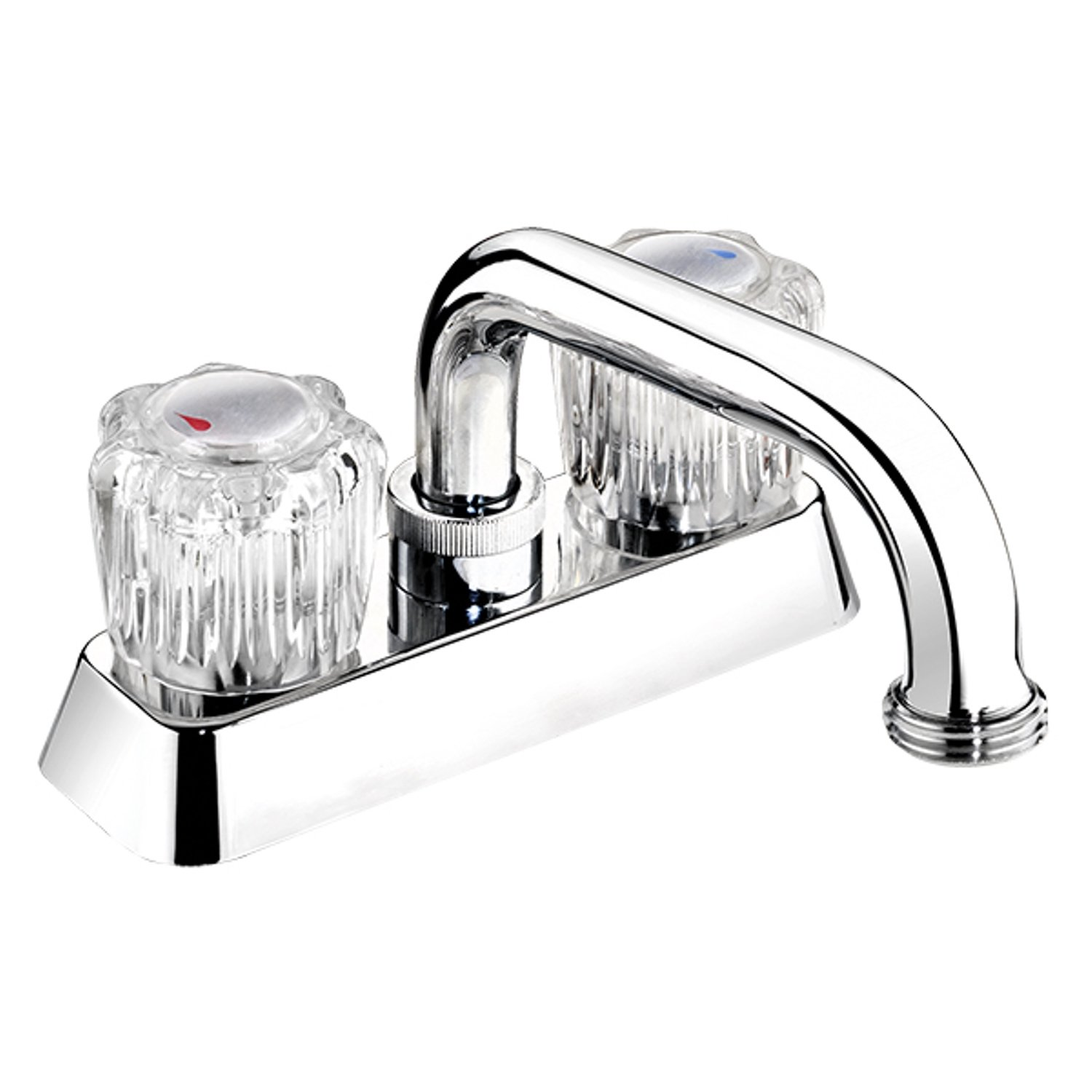Belanger EBA40WCP Laundry Tub Faucet with Dual Round Acrylic Handles, Polished Chrome by Keeney Manufacturing