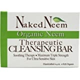 Neem Cleansing Bar 4oz  -Ultra-Sensitive Skin-Soothing Therapy-Relieves Skin Irritation, Itching, Flaking, Dryness. 1 or 3 Count