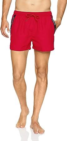 Calvin Klein rojo Pantalones cortos de baño con cordón corto,A estrenar y genuina. Somos un vendedor