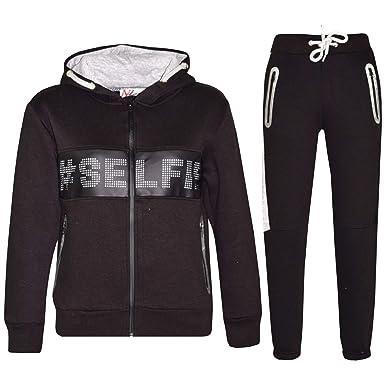 c560f7e9c847 A2Z 4 Kids® Kids Boys Girls Tracksuit Designer s  Selfie Print Zipped Top  Hoodie   Botom Jogging Suit Joggers Age 5 6 7 8 9 10 11 12 13 Years