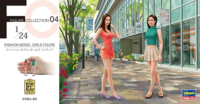 Hasegawa 1//24 Figure Collection Series Companion Girls Figures Plastic Model FC0