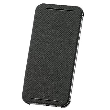 HTC Carcasa tipo Flip con Enganche Trasero para HTC One (M8) - Gris