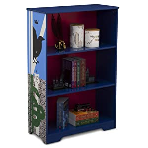 Delta Children Deluxe 3-Shelf Bookcase - Ideal for Books, Decor, Homeschooling & More, Harry Potter
