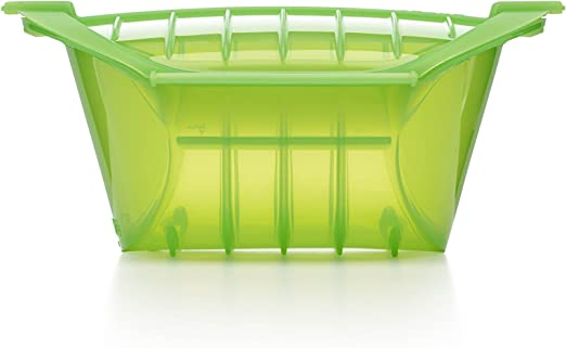 Lekue 3-4 Person Deep Steam Case with Tray and Cookbook, Green by Lekue: Amazon.es: Hogar
