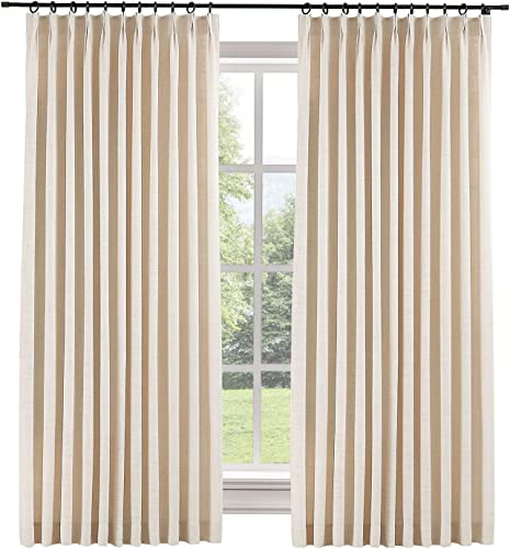 ChadMade Extra Wide 120 W x 96 L Polyester Linen Drape