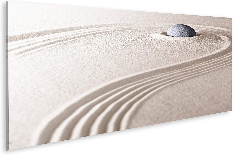 Cuadro en lienzo El concepto de jardín de piedra y arena Zen para la relajación, la meditación, la pureza, la espiritualidad y el equilibrio de las rocas y Cuadros Modernos Decoracion Impresión