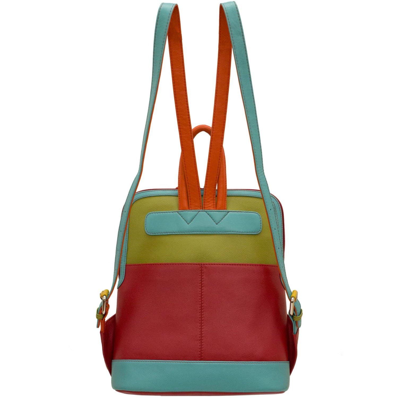 ili Leather 6505 Backpack Handbag Citrus