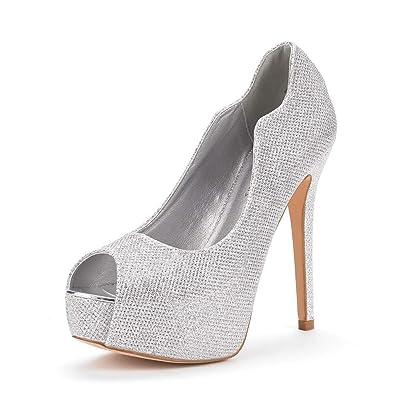 DREAM PAIRS Women's Swan-25 High Heels Platform Dress Pump Shoes | Pumps