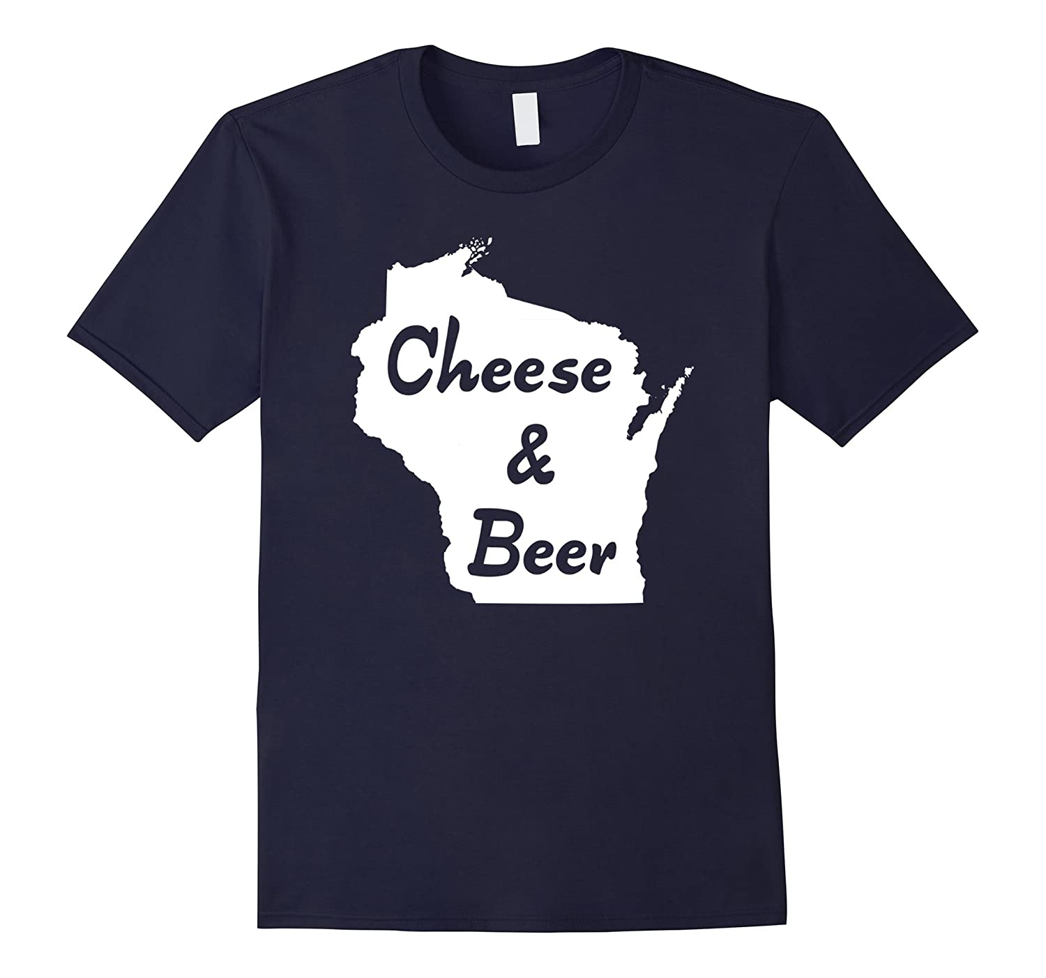 """Cheese & Beer – Wisconsin"" old fashion wisco brew t-shirt"