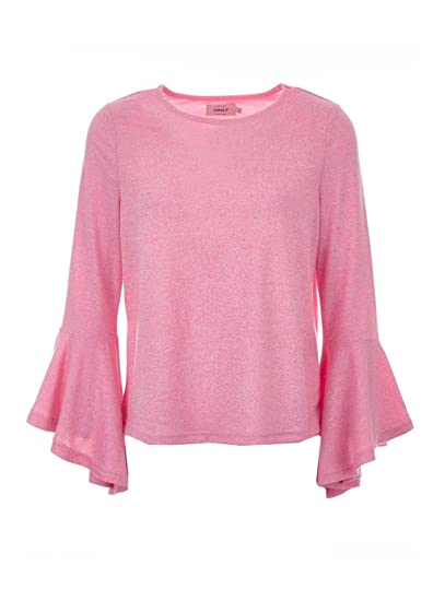 ONLY Damen Pullover Ida 3 4 Arm Flared Knit (Rosa,Blau,Braun ... 3aec8d82d9