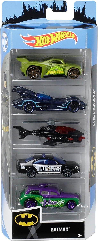 Hot Wheels - Batman Pack de 5 coches de juguete para niños +3 años (Mattel GGD32): Amazon.es: Juguetes y juegos