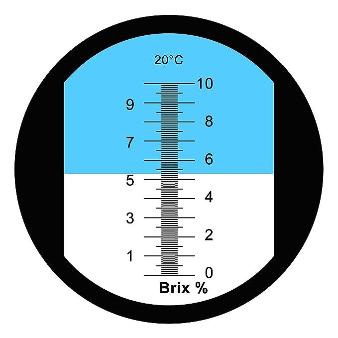 Brix Refractómetro Rango 0-10% Brix Prueba De Mecanizado Sintético Líquidos De Refrigeración: Amazon.es: Bricolaje y herramientas