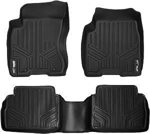 MAXLINER Floor Mats 2 Row Liner Set Black for 2008-2013 Nissan Rogue / 2014-2015 Rogue Select