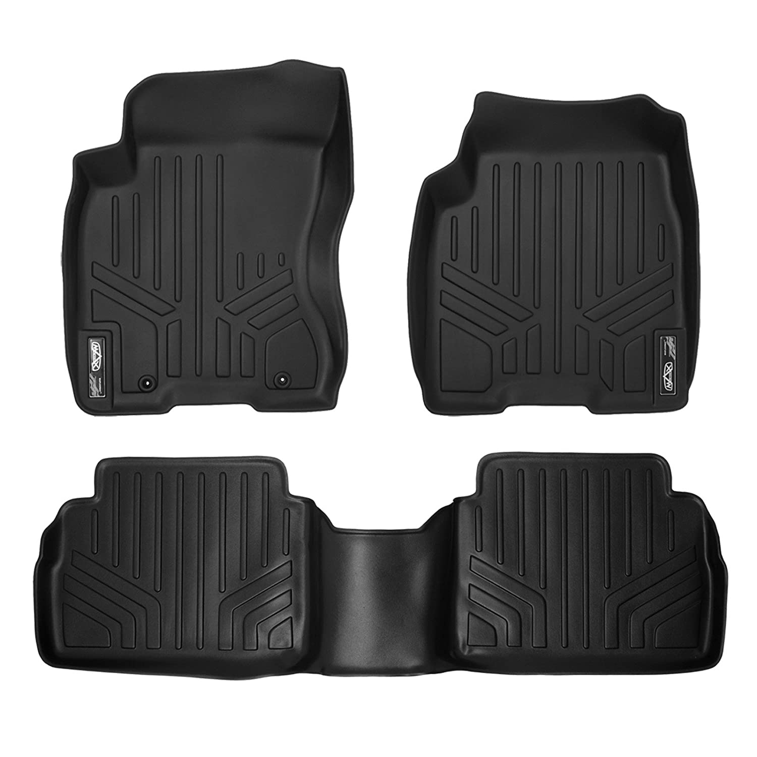 Rubber floor mats nissan rogue - Amazon Com Maxfloormat Floor Mats For Nissan Rogue 2008 2013 Rogue Select 2014 2015 Complete Set Black Automotive
