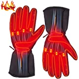 Autocastle Rechargeable Electric Battery Heated Gloves for Men and Women,Outdoor Indoor Battery Powered Hand Warmer Glove Lin