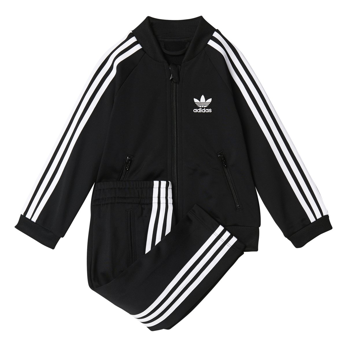 adidas Originals Sets Infant Superstar Track Suit, Black/White, 3T