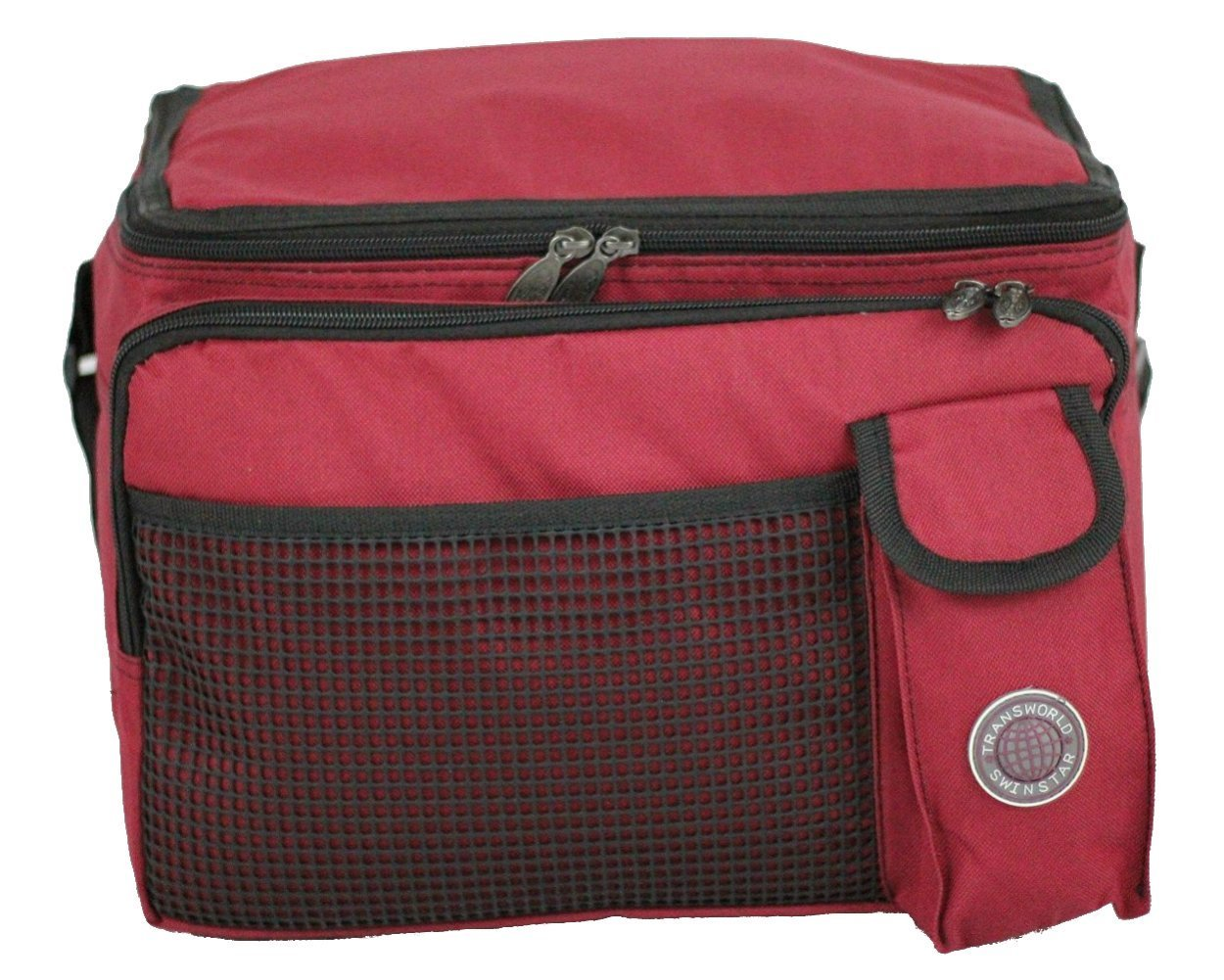 "Transworld Durable Deluxe Insulated Lunch Cooler Bag (Many Colors and Size Available) (13 1/2""x10""x10"", Red)"