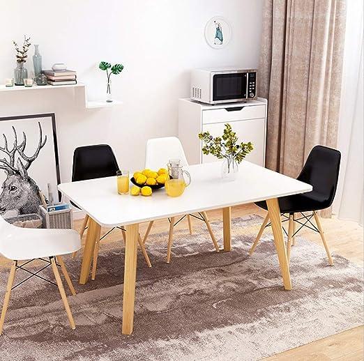 Mesa De Comedor Estilo Nórdico Moderna Sala De Estar Minimalista ...