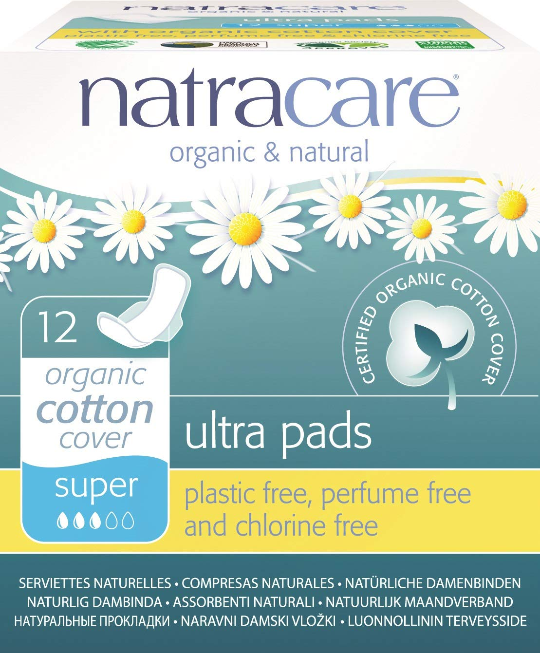 Natracare Natural Ultra Super Pad with Wings - 12-Pads per box (Pack of 12) by NATRACARE