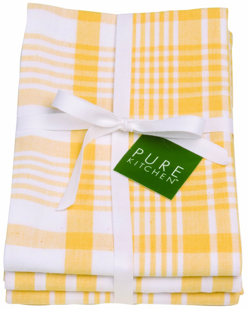 Amazon.com: Now Designs Jumbo Pure Kitchen Towel Set Of 3, Lemon Yellow:  Home U0026 Kitchen