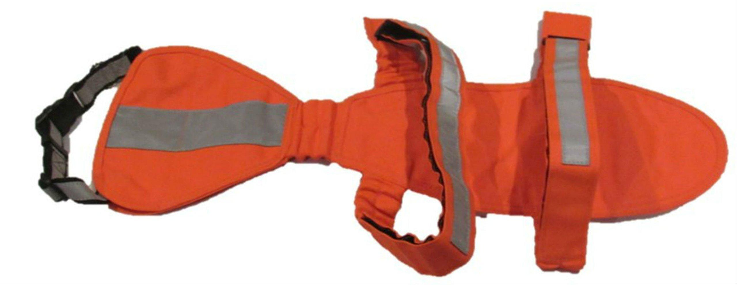 DOGonGEAR Dog hunting Vest (UnderBelly & Chest Protection) Medium 25 lb to 55 lb Safety Orange
