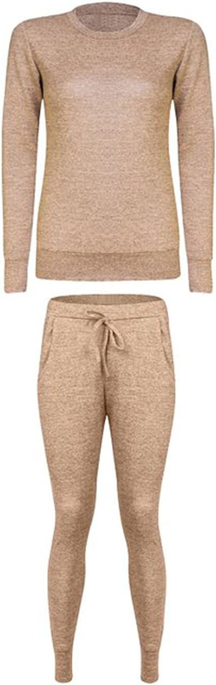 Chándal de punto para mujer, pantalones con bolsillos y sudadera ...