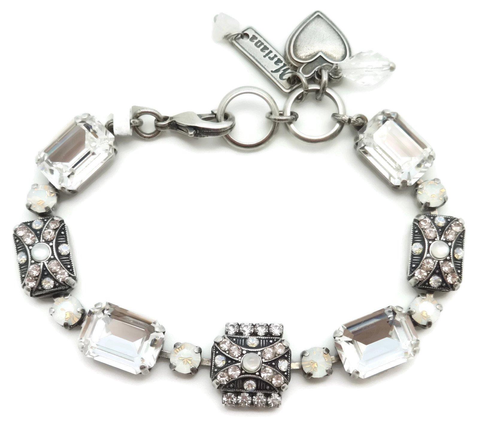 Mariana Swarovski Crystal Silver Plated Bracelet Clear Rectangle Mosaic 1078 Africa Kalahari