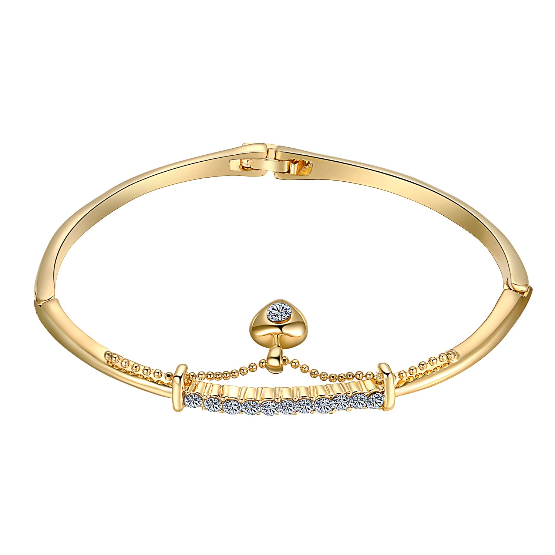 Yoursfs Bangle Bracelet Cubic Zirconia Love Designed Bangle Italina B631R1-CA