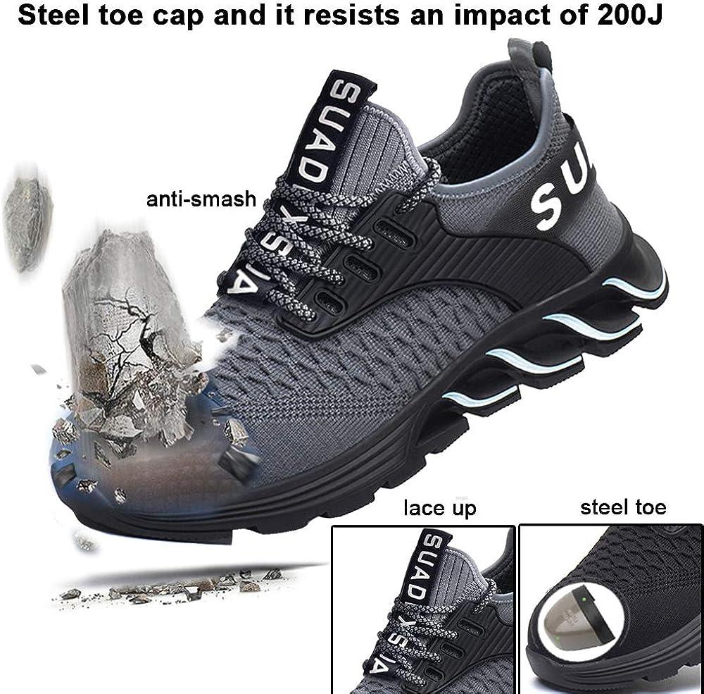 Men/&Women Lightweight Steel Toe Safety Shoes Work Anti-smashing Mesh Sneakers