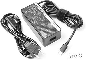 2 Prong 65w USB-c ac Adapter for Lenovo Yoga Charger c940 c740 s940 s730 c930 c630 920 910 900 730 720 adlx65ylc2a adlx65ycc2a adlx65ylc3a 4X20M26268 4X20M26252 ADLX65YCC2D ADLX65YLC2D ADLX65YDC2D