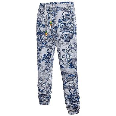 Longue Loisir Homme Fleur Pantalon De Oeak Large Imprimé R4jAL35q