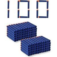 Kidzbell Toy Bullet Foam Dart Bullets for Nurf N Strike Elite Guns, 100 -Piece , Blue)