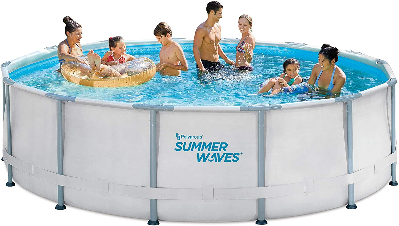 SALEBESTSELLER NO. 1 14ft Elite Frame Pool with Filter Pump, Cover, and Ladder