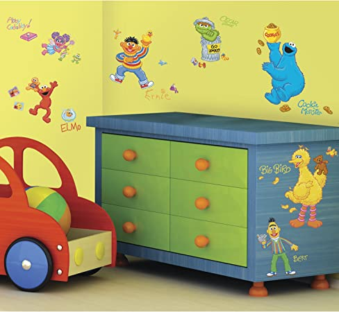 XL Self-Stick Sesame Street Accent Decal nEw Large JUMPING ELMO WALL STICKER