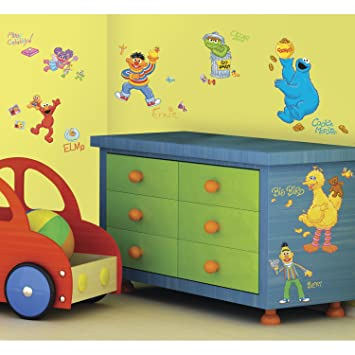 RoomMates RMK1384SCS Sesame Street Peel u0026 Stick Wall Decals