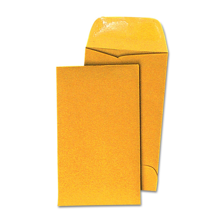 Kraft Coin Envelope,  3, Light Braun, 500 Box